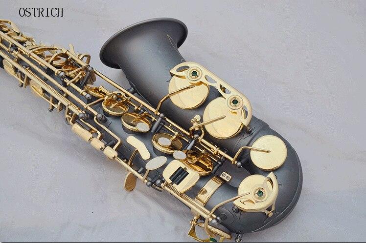 Nouvelles gravures de Saxophone Alto de surface noir mat professionnel de musique orientale