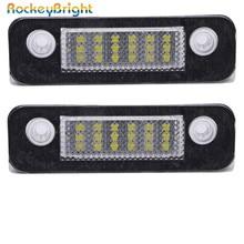цена на Rockeybright Car LED License Plate Lights Bulb Kit For Ford Mondeo MK2/Fusion Error Free 12V 18SMD LED License Number Plate Lamp