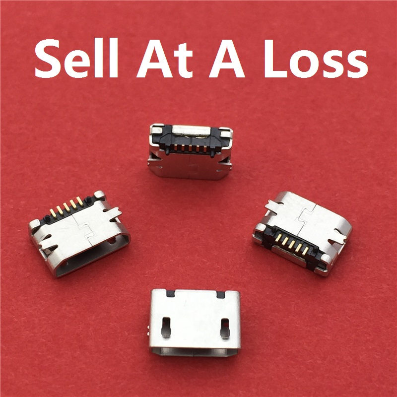 купить 10pcs/lot Micro USB 5pin Female Socket G25 Connector Plain Mouth Type for Charging Mobile Phone Free Shipping недорого
