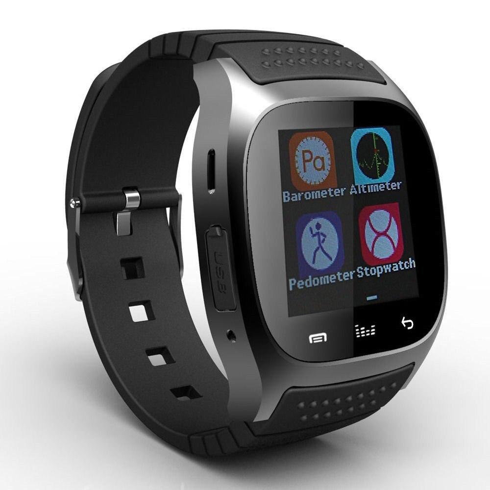 imágenes para Smartwatch impermeable M26 Bluetooth Podómetro Reloj Inteligente Con LED Alitmeter Reproductor de Música Para El Teléfono Inteligente Android T30