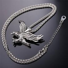 Necklace Steel Hawk Animal