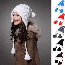 Женские теплые шапки с милым помпоном, зимние вязаные шапочки Toucas, вязаные шапки, Лыжные шапки Skullies Gorros