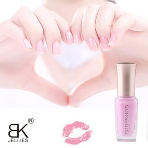 Image 5 - Новый лак для ногтей конфетный телесный цвет Быстросохнущий полупрозрачный Желейный лак для ногтей 10 мл Защита окружающей среды стойкий незаметный