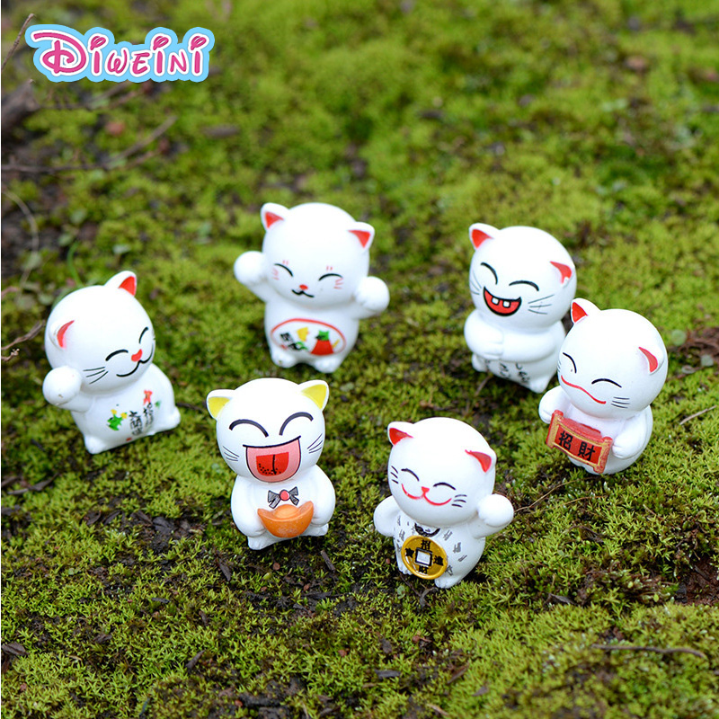 Animal Figurine Japan Lucky Cartoon Miniature Kitten-Model Pvc-Craft Gift Boy Toys Cat