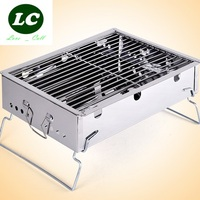free shipping BBQ Grills Stainless steel stove outdoor portable charcoal barbecue grill stove household fold