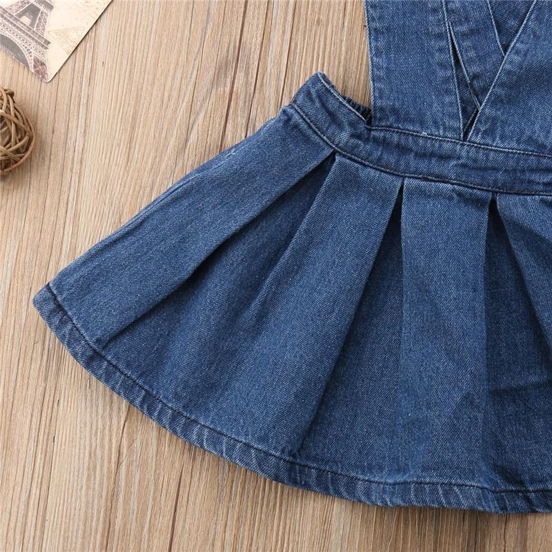 610db678e Baby Girl Denim Skirt Toddler Kids Suspender Skirt Overalls Draped Mini  Skirt Outfit Baby Girl Clothes Children Clothing 0 5T-in Skirts from Mother  & Kids ...
