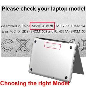 Image 2 - كمبيوتر محمول جراب للماك بوك اير 13 ماتي شفاف لاجهزة ابل ماك بوك اير برو ريتينا 11 12 13 15 + واقي للشاشة
