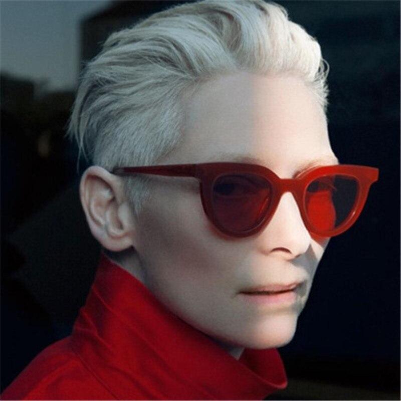 b4cc36869da 2018 Womwn Sunglasses For Cat Eye Lunettes De Soleil Mode Luxe Marque  Designer Lady Femme Points