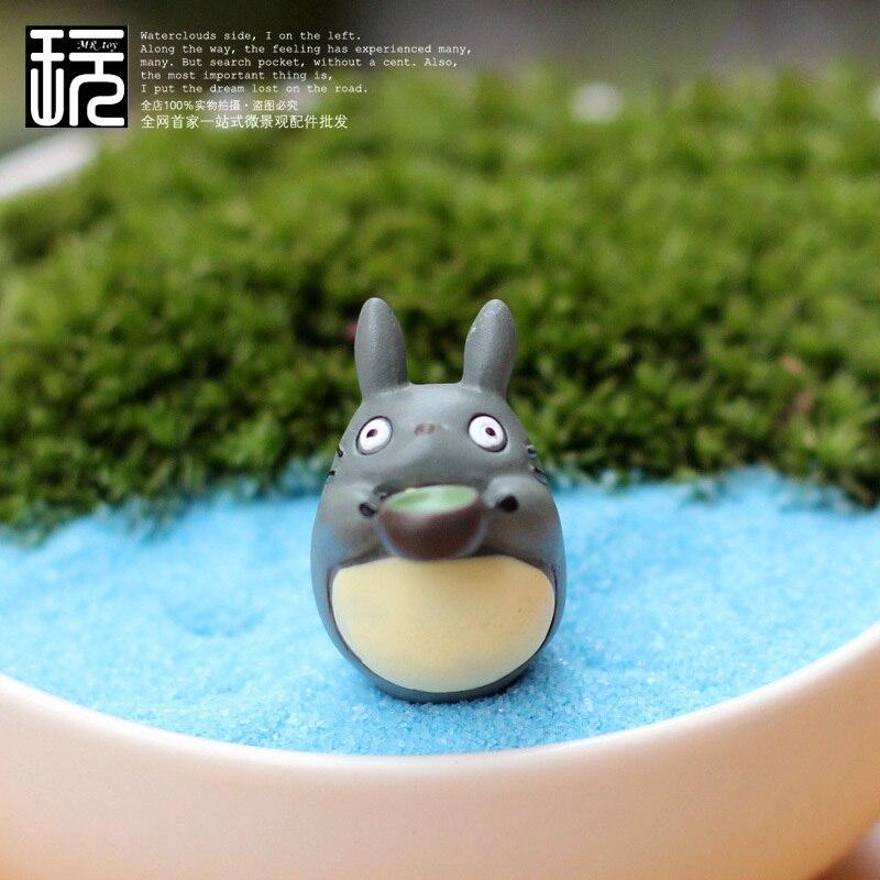 Action Toy Figures Drinking Totoro Fairy Garden Miniatures Diy
