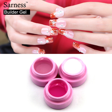 Saroline Builder Gel Soak Off Camouflage Nail Gel Polish Clear Nude Color UV nail Art Salon Extension For French Gel Nail