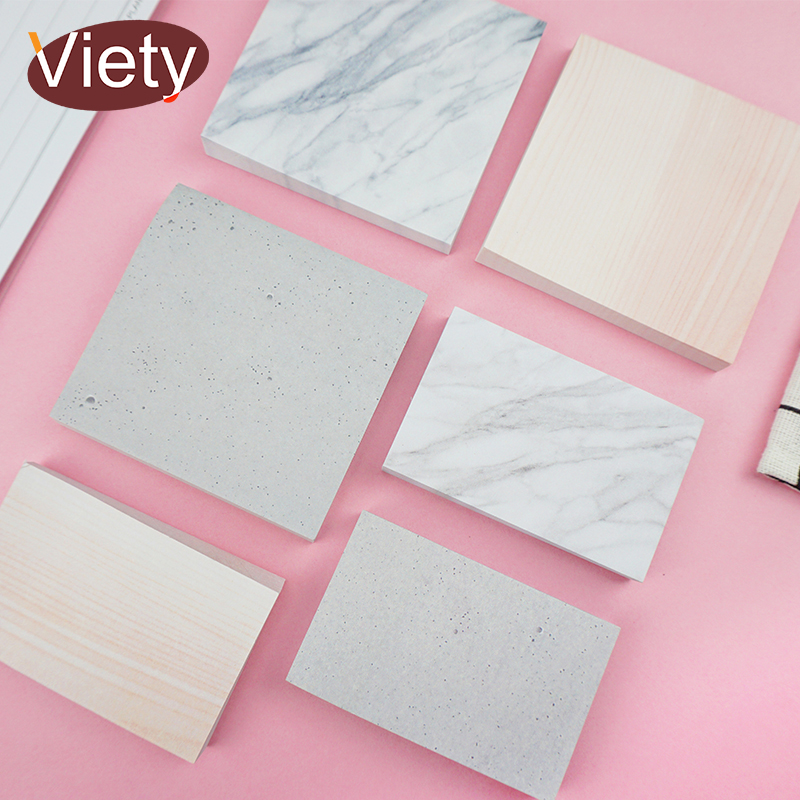 Simple Marbing Pattern Memo Pad Sticky Notes Paper Sticker Notepad Kawaii Stationery Pepalaria Office School Supplies