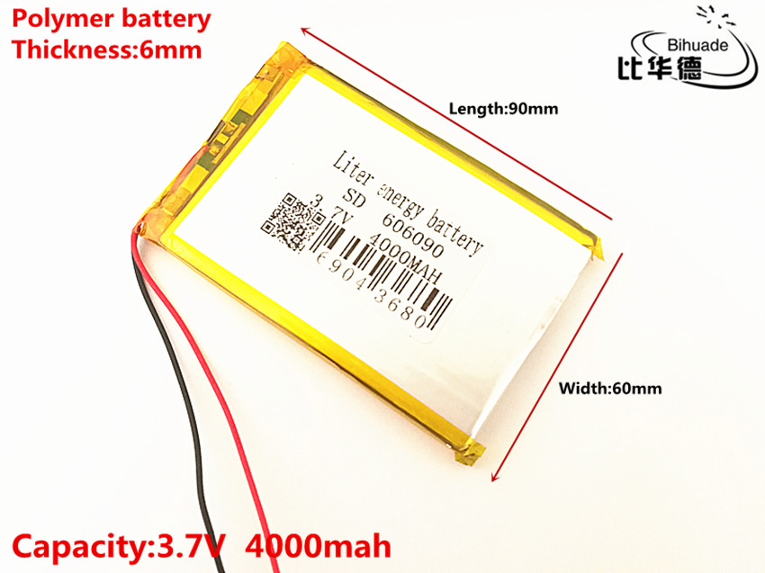 Liter energy battery 3.7V original dual engine N70HD 606090 built-in battery 4000mAh polymer lithium batteries 503 759 batteries polymer battery lithium polymer battery 1200ma