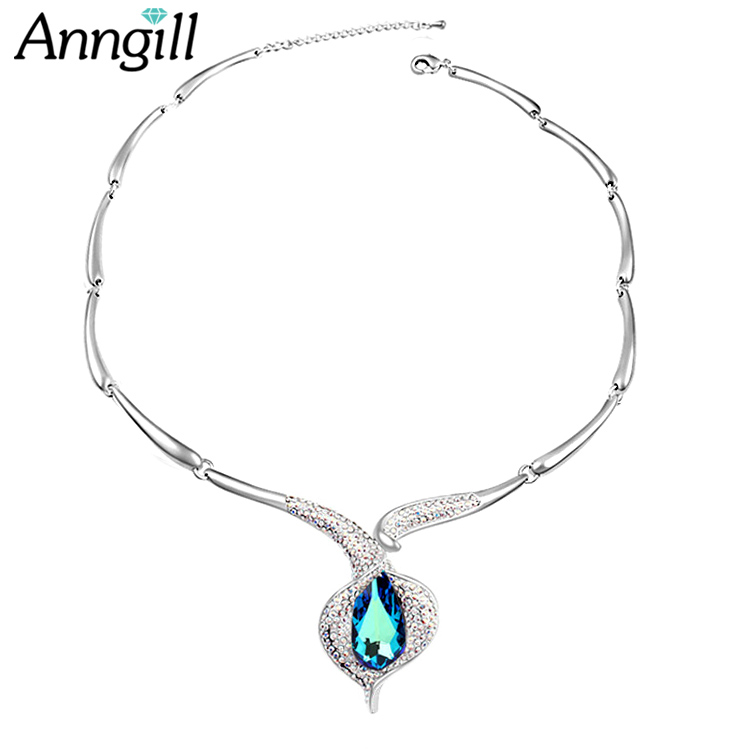 Statement Necklaces & Pendants Genuine Crystals from Swarovski Necklace for Women Female Collar Collier Femme Fashion Jewelry