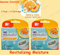 4 Cartridges/set Original Intuition Women Razor Blades Revitalizing Moisture Tropical Citrus Agrumes Tropicaux bikini underarm