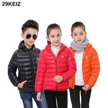 AOSTA BETTY Hooded Baby Girls Winter Jackets & Parkas Black Zipper Girls Boys Snow Wear Cotton Padded Children Outerwear & Coat