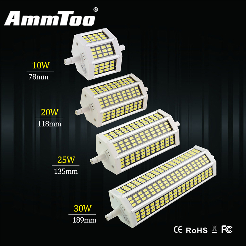 R7s led 10w 20w 25w 30w smd5730 led r7s 78mm j78 118mm for R7s led 78mm 20w