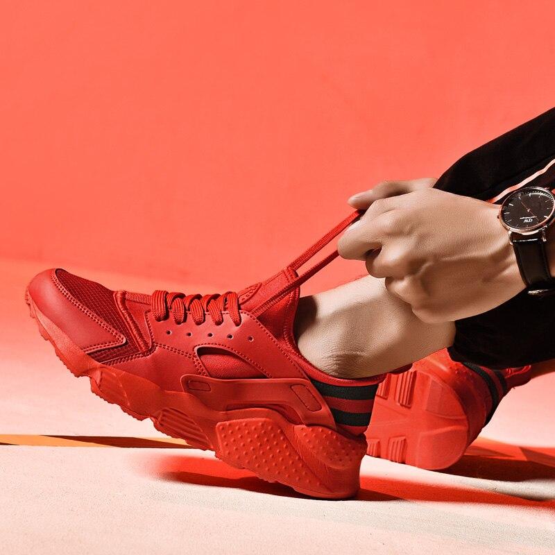 Sapatos de Caminhada Respirável Malha Vamp Anti-skid Sapatilhas