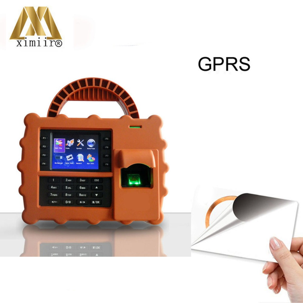 Waterproof MF IC Card Reader S922 With GPRS Function Fingerprint Time Attendance System Attendance Recording
