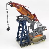 316Pcs Military Swat Team Figures Black Gold Oil Mine Base Model Building Kits Blocks Bricks Figures Toys for Children