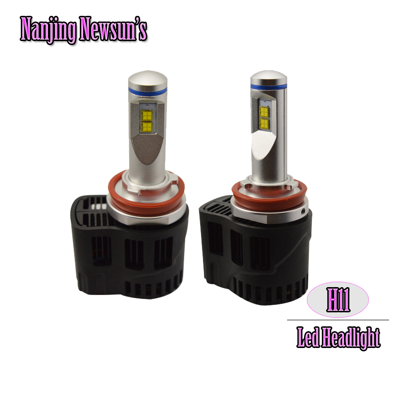 2x Super Bright Car Headlights H11 Auto Front Bulb Automobiles Headlamp  6000K Car Styling H11 Led Bulbs купить