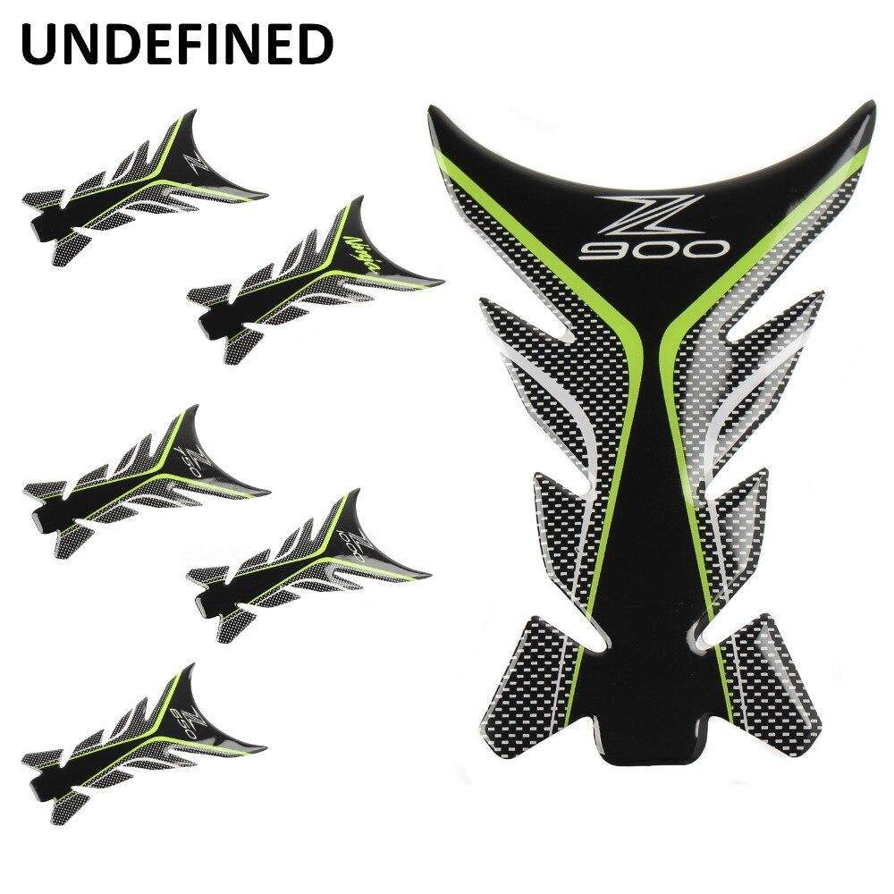 3D Motorcycle Tank Pad Protector Sticker Fish Bone Decal For Kawasaki Ninja Z650 Z750 Z900 Z1000 Z Pegatinas Moto UNDEFINED