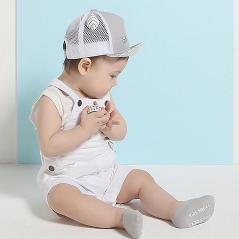 5pairs/lot High Quality Korean Children's Invisible Boat Socks Baby Non Slip Socks Cotton Sock for Girl and Boy 3