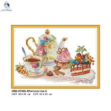 Afternoon Tea Counted Printed On Canvas DMC 14CT 11CT Cross Stitch kits, Embroidery Needlework Set, Hand Made Crafts Home Decor