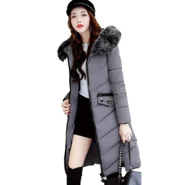 Large Fur Collar Ladies Coats Snow Wear 2017 Winter Coat Women ...
