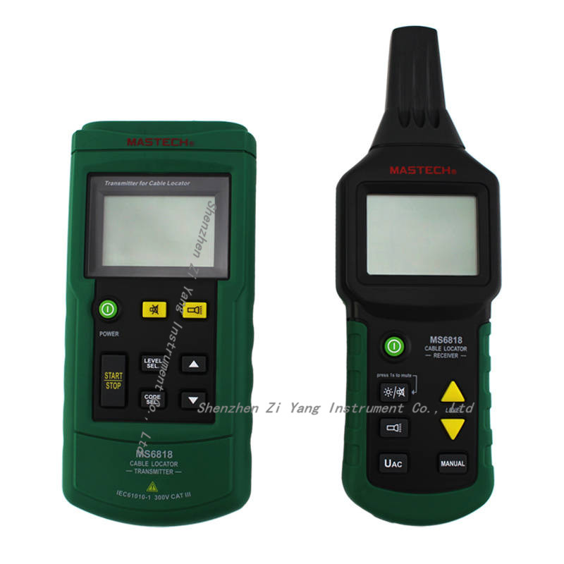 MS6818 Cable detector Wire Cable Metal Pipe Locator Detector Tracker Finder Metal Pipe Locator Meter AC/DC 12~400V цена