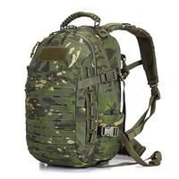 Mochila de camuflaje Multicam para hombre y mujer, mochila táctica militar de 25L, mochilas de asalto Molle del ejército, senderismo, Camping, caza, impermeable