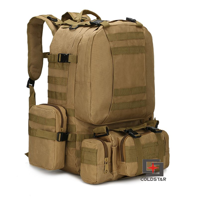 ФОТО New Arrival Khaki Sports Outdoor Military Tactical Backpack Travel Bags High Quality Camping Bag Hiking Trekking Bagpack