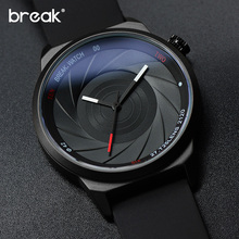 BREAK Rubber Strap Luxury Brand Women Men Unisex Waterproof Fashion Casual Wristwatches Quartz Unique Creative Sports