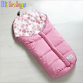 Winter Sleeping Bag Baby Sleeping Bags For Stroller With Footmuff Infant Cartoon Bear Sleeping Bag Kids 100% Cotton Baby Bags