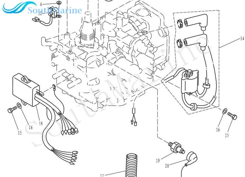 Boat Motor Coil Pulser F15-07000200 for Parsun HDX 4-Stroke F9.9 F13.5 F15