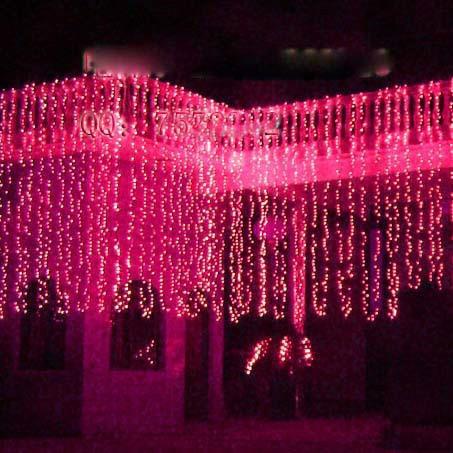 waterfall light Outdoor waterproof balcony courtyard flashing 10M LED Christmas decoration lights lanterns Curtain lamp 1000head christmas ornaments print waterproof shower curtain