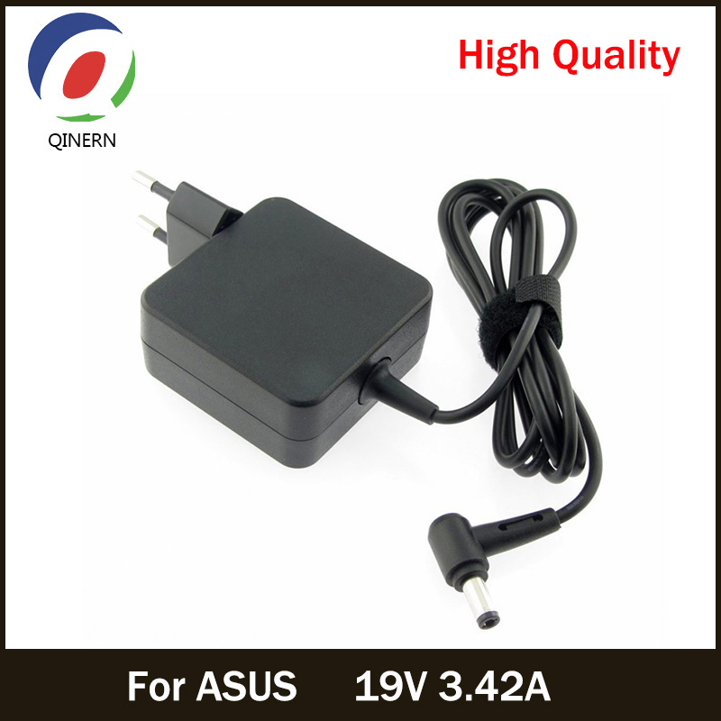 QINERN EU 19V 3.42A 65W 5.5*2.5mm AC Charger For ASUS Laptop adapter For ASUS X550C Tablet Battery Power Supply Portable Charger 19v 2 37a ad883220 ac adapter for asus x551c x552 x551ca x551m ux430u q303u notebook power supply laptop charger eu plug