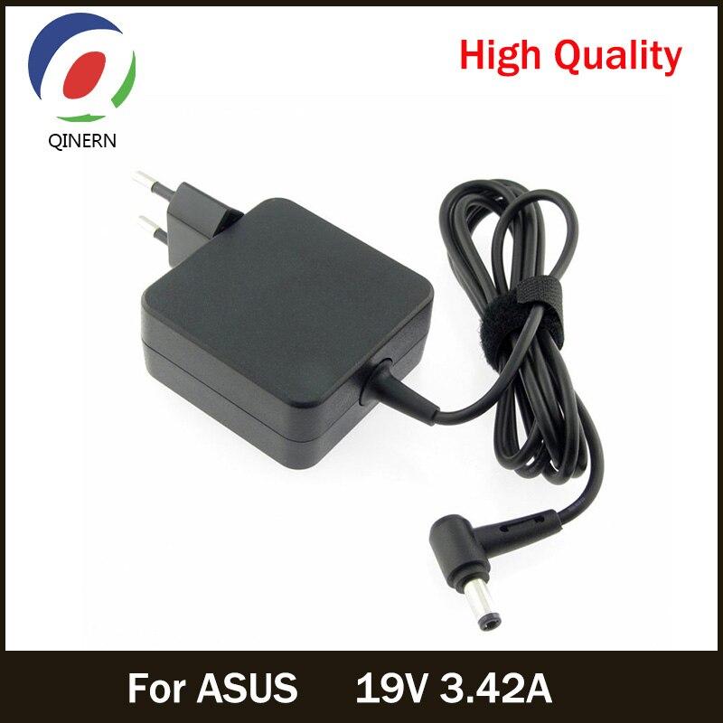 QINERN UE 19 V 3.42A 65 W 5,5*2,5mm cargador de CA para el adaptador del ordenador portátil de ASUS X550C batería de la tableta alimentación cargador portátil