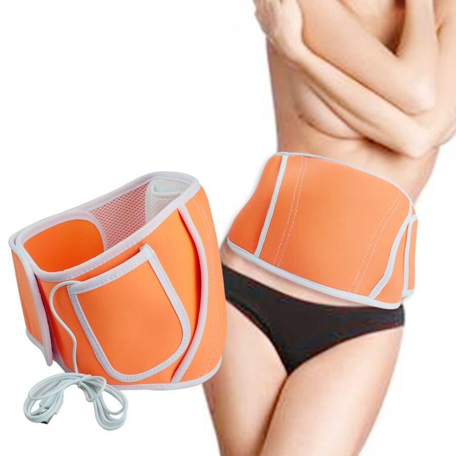 USB Power Electric Body Hand Tummy Waist Warmer Belt Waist Pain Relief and Back Warmer Orange