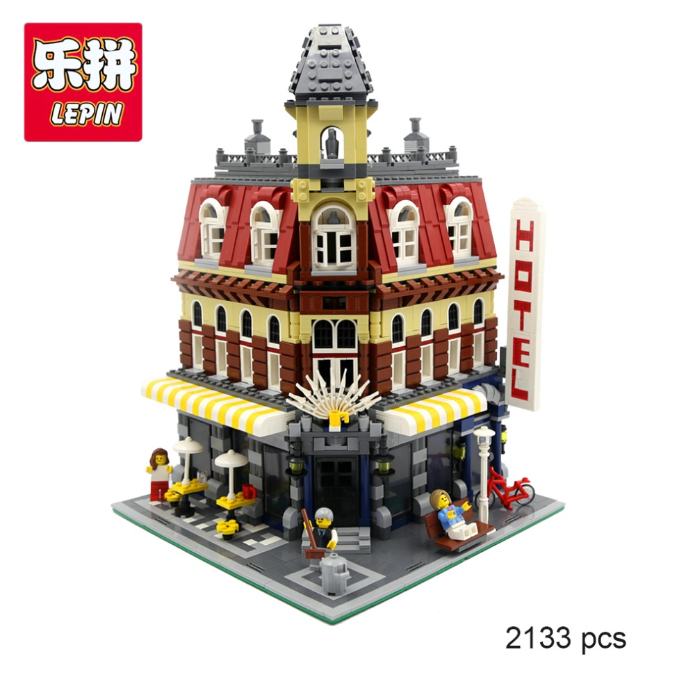 LEPIN 15002 City Street Cafe Corner Model Building Kits Assembling Blocks Kid Toy Compatible with Lego 10182 Educational Gift lepin 15002 cafe corner model 2133pcs building kits blocks kid diy educational toy children day gift compatible 10182
