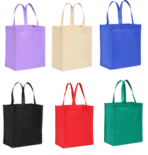 5pcs Friendly Polypropylene Grocery Foldable Fabric Eco Bag Personalized Non Woven Webshop Folding Reusable Shopping Bags cart(China)