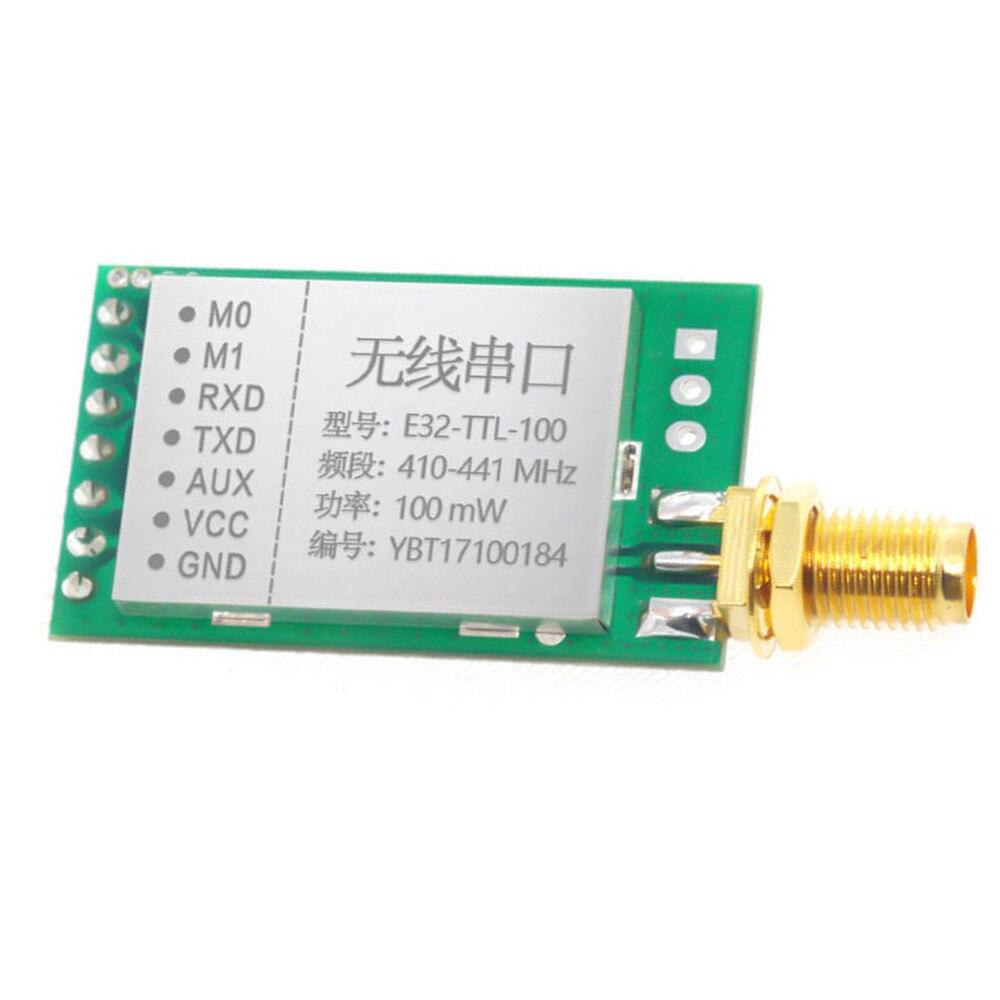 1pc New 433MHz E32-TTL-100 LoRa SX1278/SX1276 433M RF Wireless Transceiver Module rfm96 rfm96w lora sx1276 wireless transceiver module 20dbm 3km genuine 433mhz