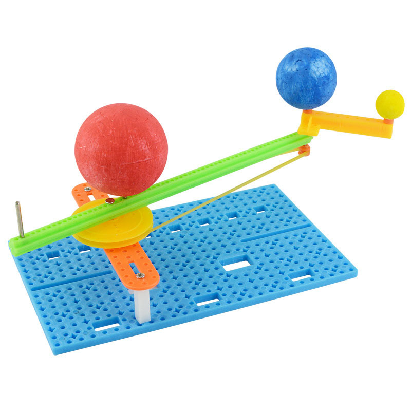DIY Science Small Gizmo Simple Sun Earth Moon Model For Kids Hademade Puzzle Assembled Toy Creative Physics Teaching Resources