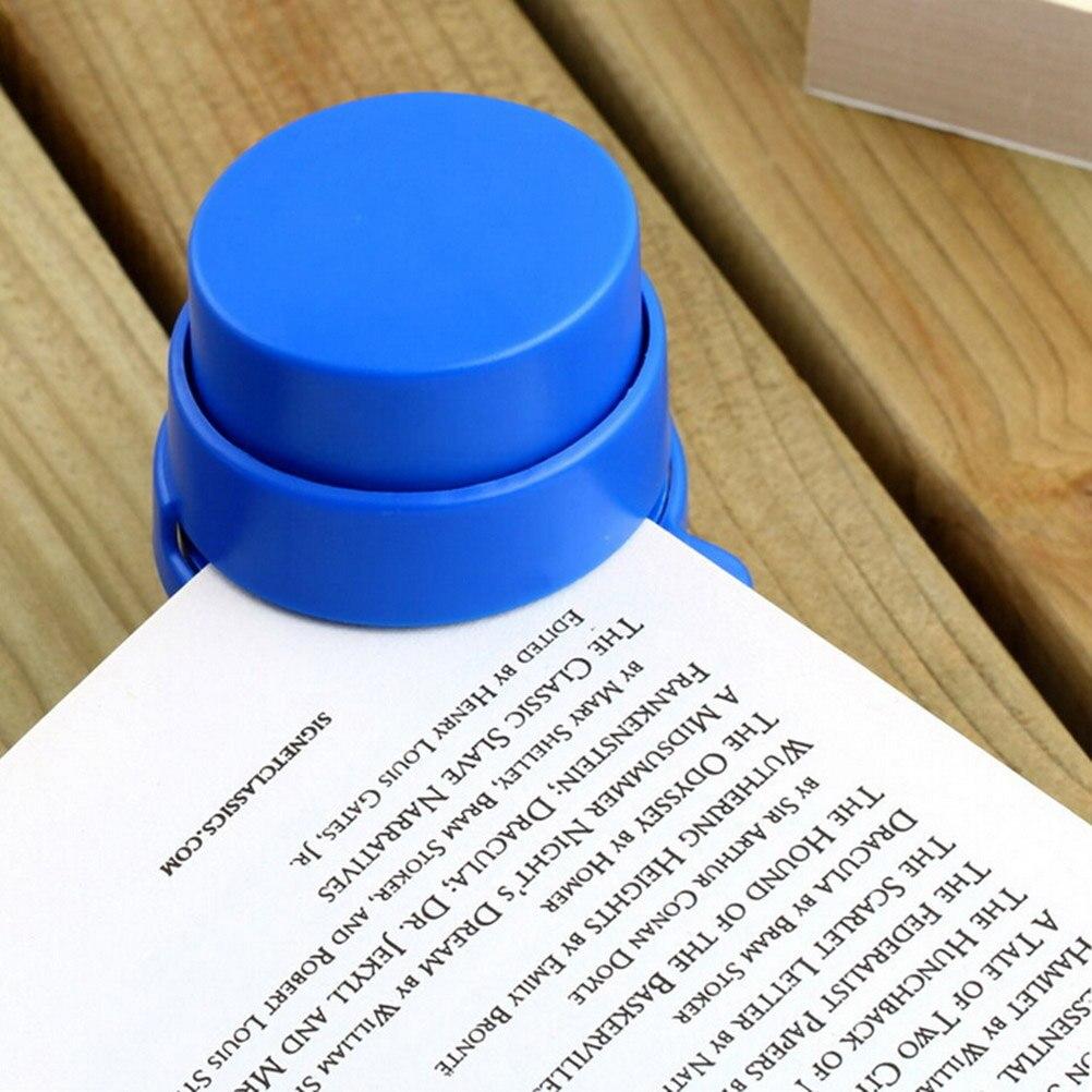 1 Pcs Xmas Office Home Staple Free Stapleless Stapler Paper Binding Binder Paperclip Wholesale