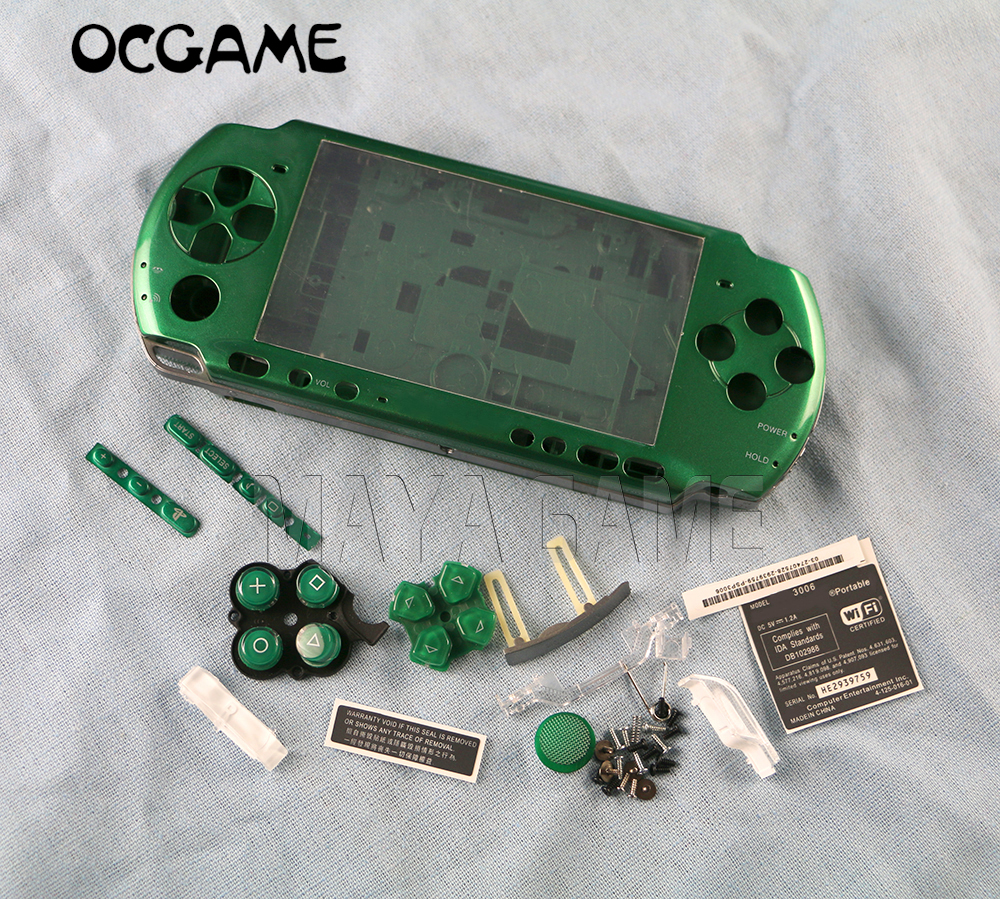 OCGAME Multi Color for  PSP3000 PSP 3000 Game Console replacement full housing shell cover case with buttons kit
