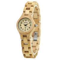 BEWELL 2018 Natural Wood Watch Women Round Case Slim Bracelet Lightweight Waterproof Vintage Watches for Girl Dropshipping 123A