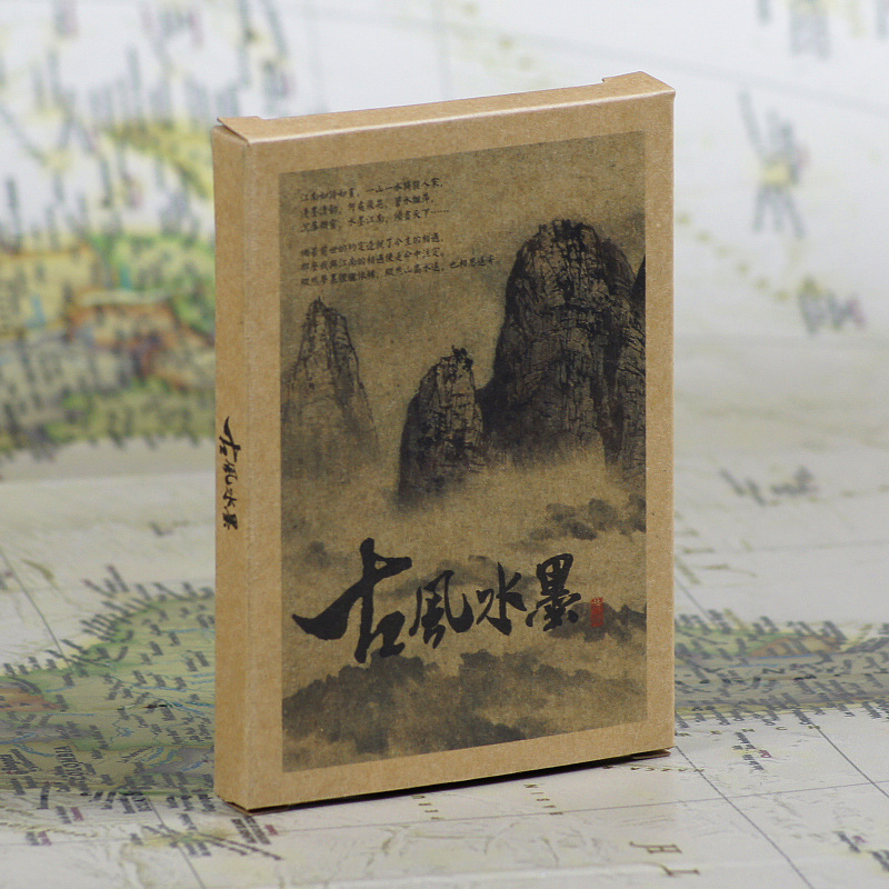 30pcs in one,Postcard,Chinese Ancient ink Landscape painting,Christmas Postcards Greeting Birthday Message Cards 10.2x14.2cm landscape with figures givernyрепродукции моне 30 x 30см