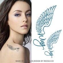 HC1005 Sexy Letter Eagle Wings Design Temporary Tattoo Sticker Men Body Art Fake Tattoo Waterproof Tattoo Sticker Women