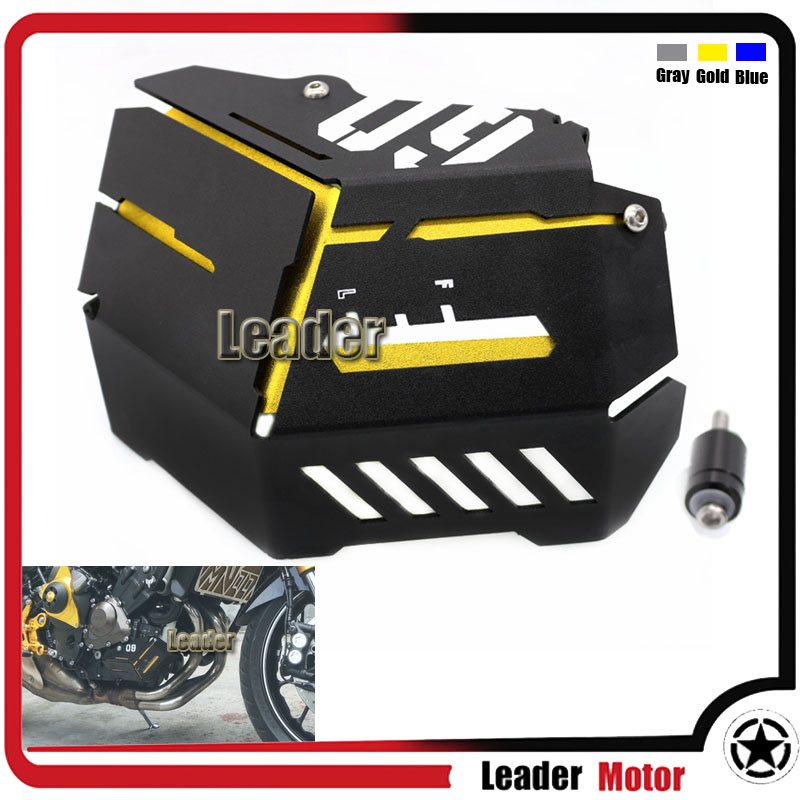 For Yamaha FZ-09 FJ-09 MT-09 Tracer/Tracer 900 MT09 FZ09 14-16 Motorcycle Accessories Coolant Recovery Tank Shielding Cover Gold cnc short adjustable brake clutch lever for yamaha fz07 fz 07 mt 07 mt07 fz 09 fz09 mt 09 mt09 fj09 fj 09 tracer