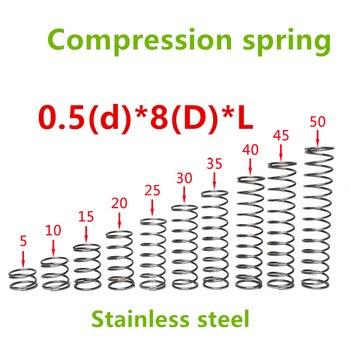 50 ピース 0.5*8*(10/15/20/25/30/35/40 /45/50) ステンレス鋼シリーズ小さなスポット春ワイヤー圧縮圧力スプリング