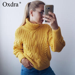 Oxdra Sweaters 2018 Knitted Pullovers Women's Clothing